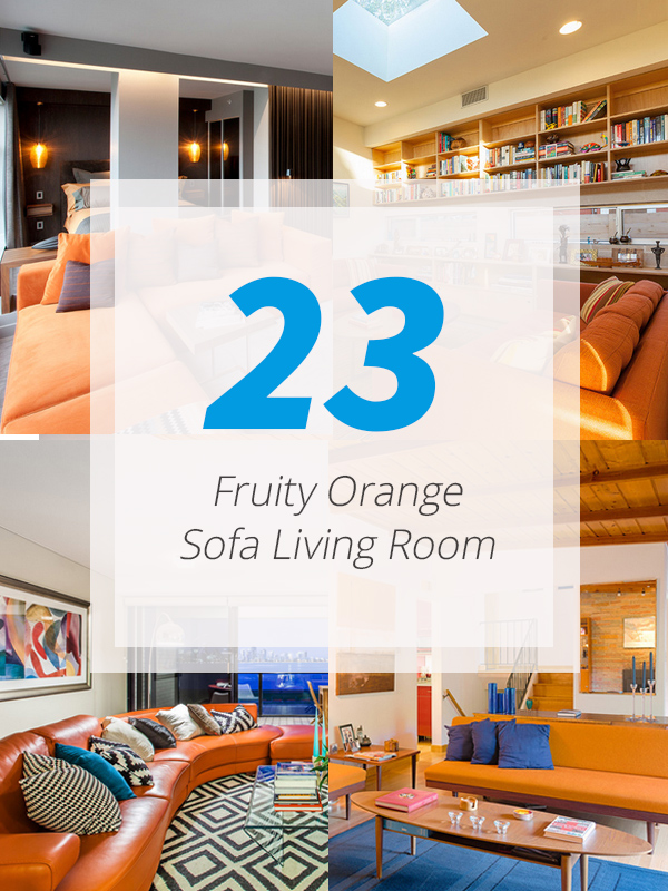 orange sofa livingroom
