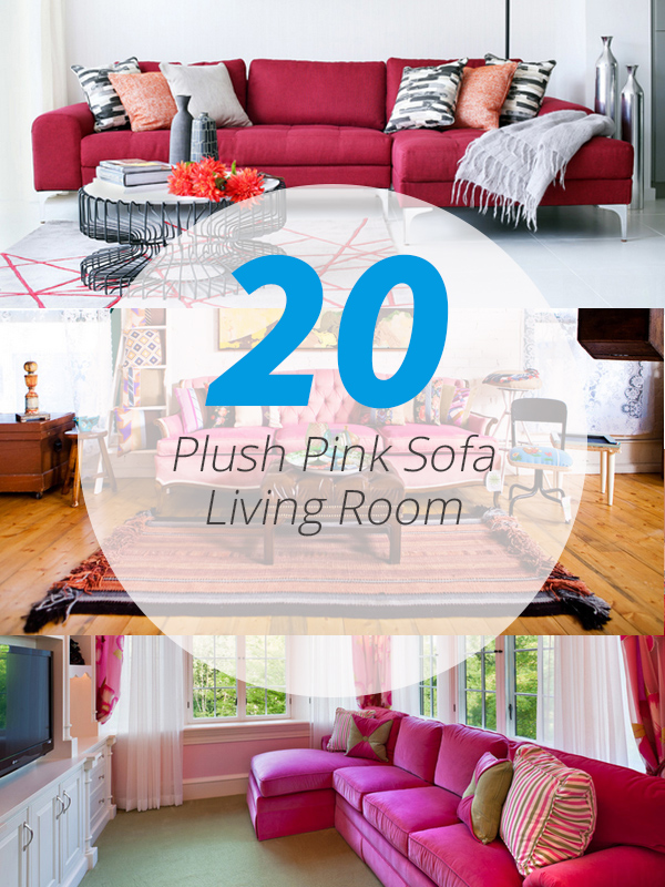 pink sofa living room