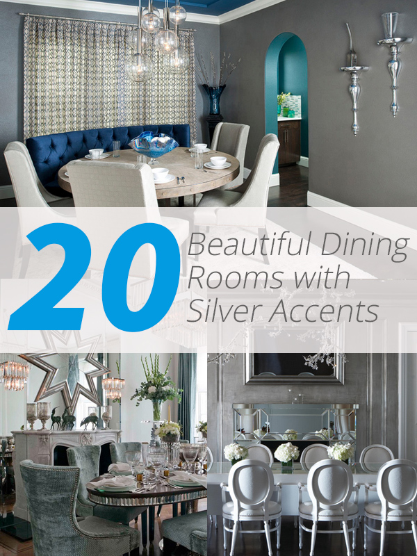 silver accents dining room