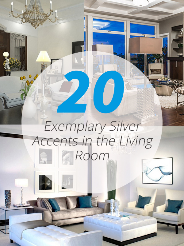 silver accents living room