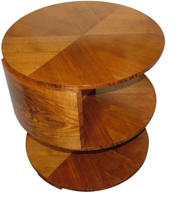 Walnut Art Deco Occasional Tables