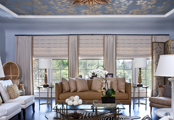 20 Living Areas Charmed With Simple Roman Shades Home Design Lover
