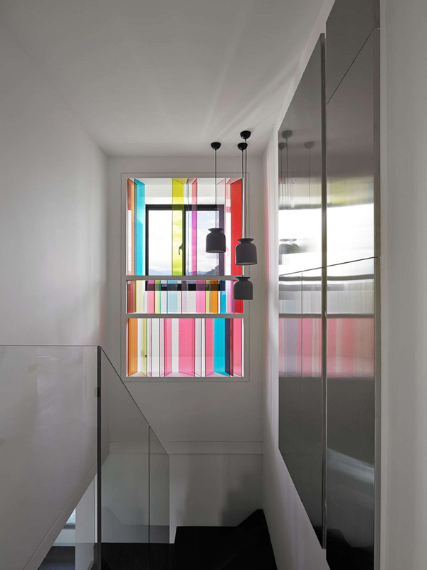 Colorful glassed window