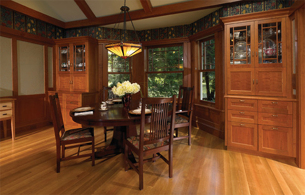 20 Craftsman Dining Rooms Featuring Natural Materials | Home Design ...