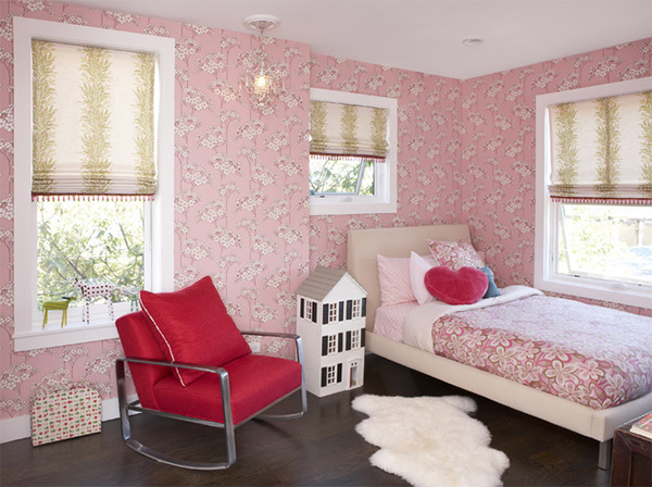 pink bedroom shades