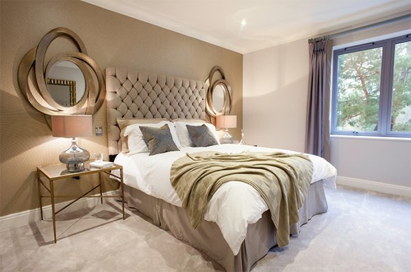 Gold Bedroom Ideas. elegant side mirrors 20 Ideas to Bring Glamour Your Bedroom with Gold Accents  Home