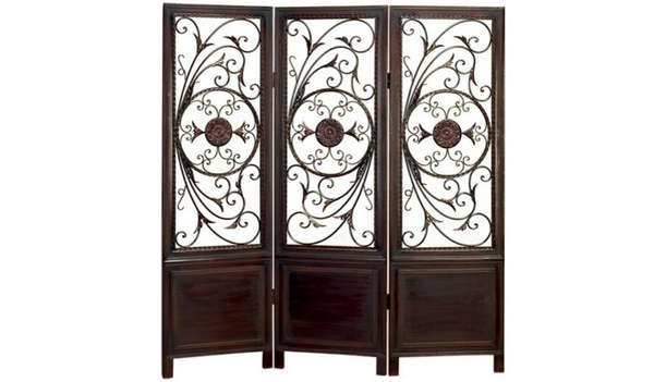 Metal Wood Room Divider