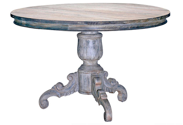 White Wash Antique Gray Dining Tables