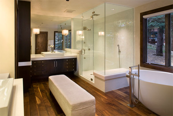 laminated tile bathroom flooring ideas