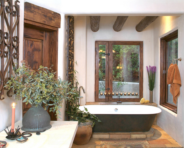 20 classy bronze accents in the bathroom home design lover for Santa fe style bathroom ideas