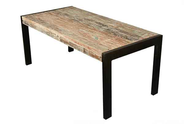 Reclaimed Wood Iron Dining Tables