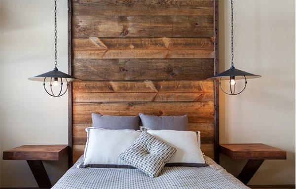 wood texture headboard