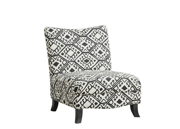 Abstract Fabric  Accent Chair