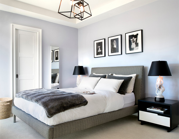 DC Grey Condo Guest Bedroom. AE Design