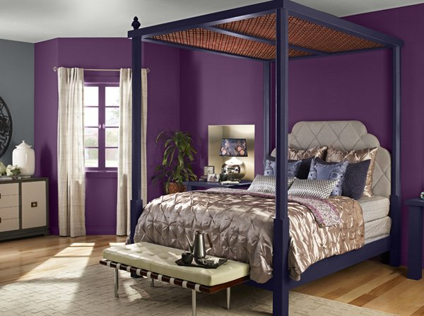 20 pleasant purple and gold bedrooms home design lover