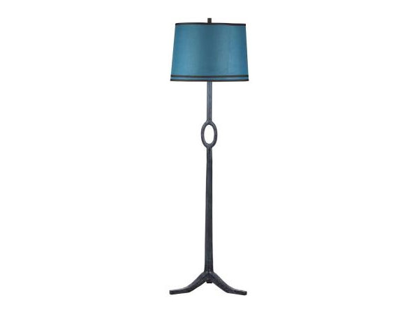 blue floor lamp