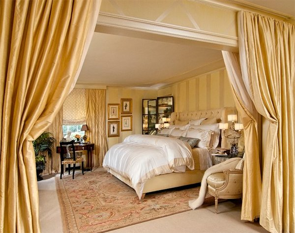 gold bed design