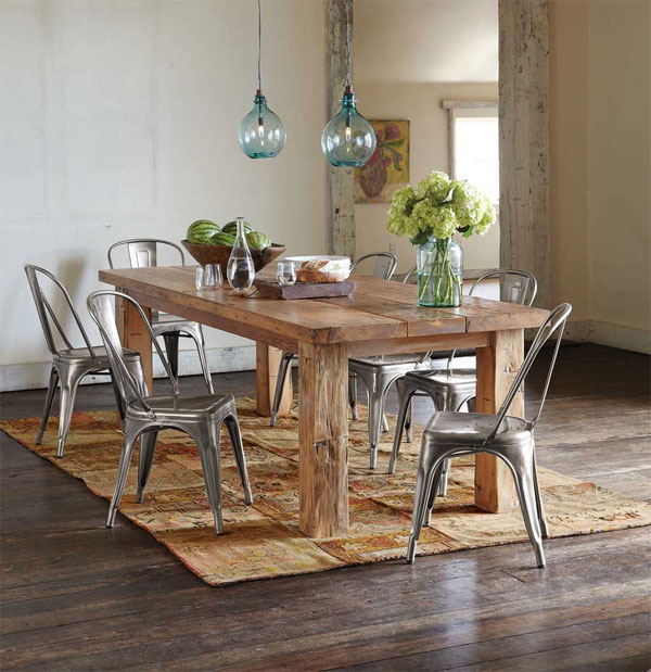23 Rustic Appeal Of Plank Dining Tables Home Design Lover