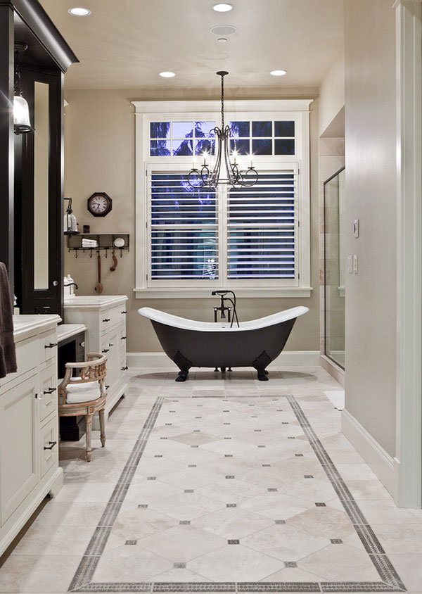 22 Collections of Classy Bathroom Flooring Ideas | Home Design Lover