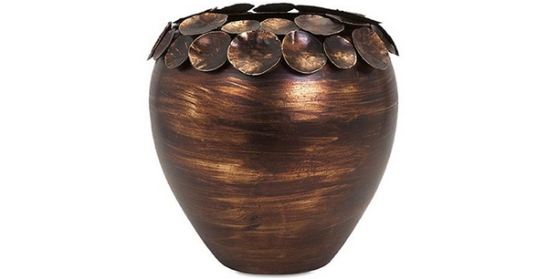Copper Leaf Vase