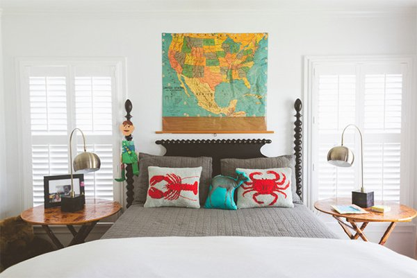world map headboard