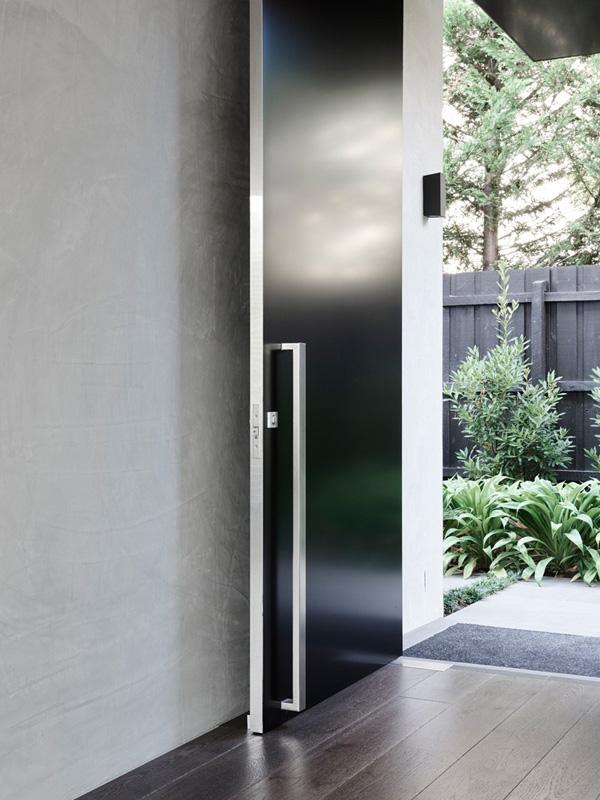 black modern door