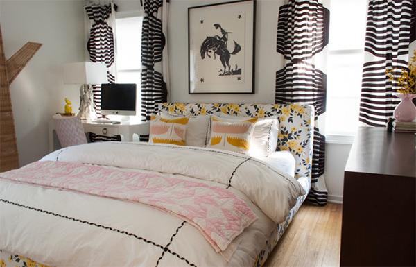 bedroom curtain pattern