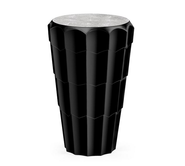 Jonathan Charles Painted Black Side Tables