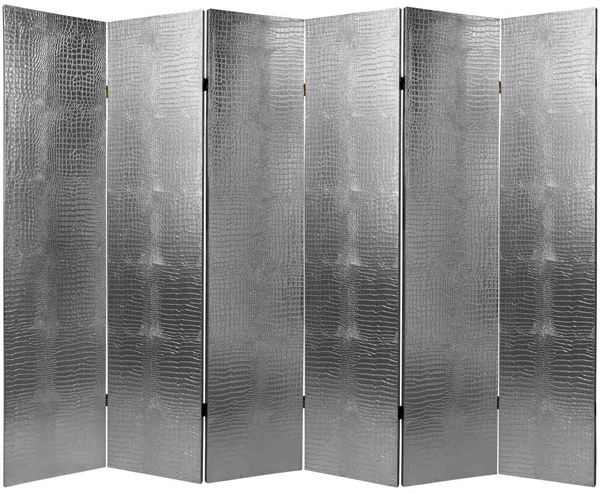 Leather Silver Room Divider