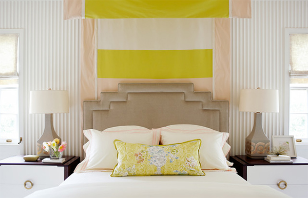 fabric headboard design