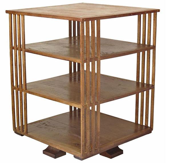 Rotating Oak Bookcase