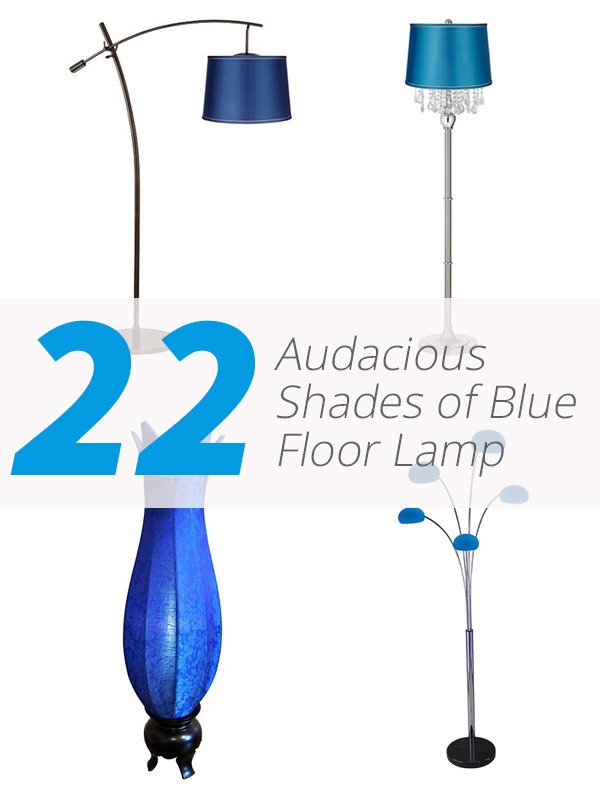 blue floor lamp designs