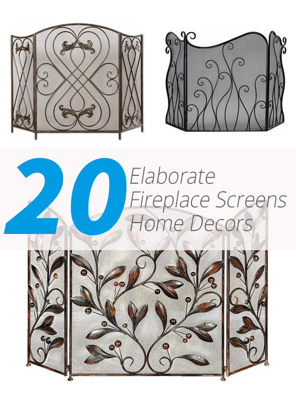 fireplace screens elaborate