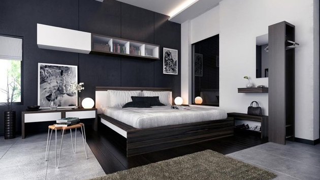 20 Formal and Conservative Gray Condo Bedrooms | Home Design ...