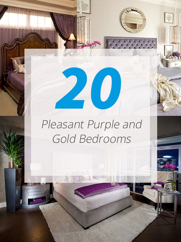 purple gold bedrooms