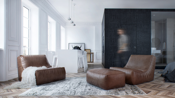 Neo classical modern interior ma in moscow russia home for Modern neoclassical interior design