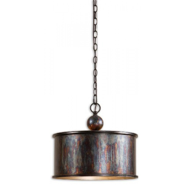 Light Oxidized Bronze Pendant