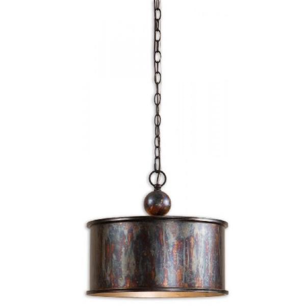 Light Oxidized Bronze Pendant