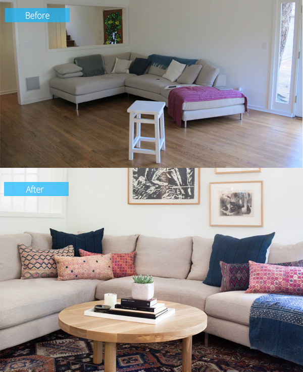 Warm and Inviting Before and After Interior Redesign by Amber