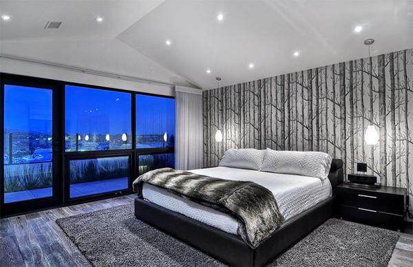 Modern Bedroom Black 20 bedroom spaces with black leather beds | home design lover