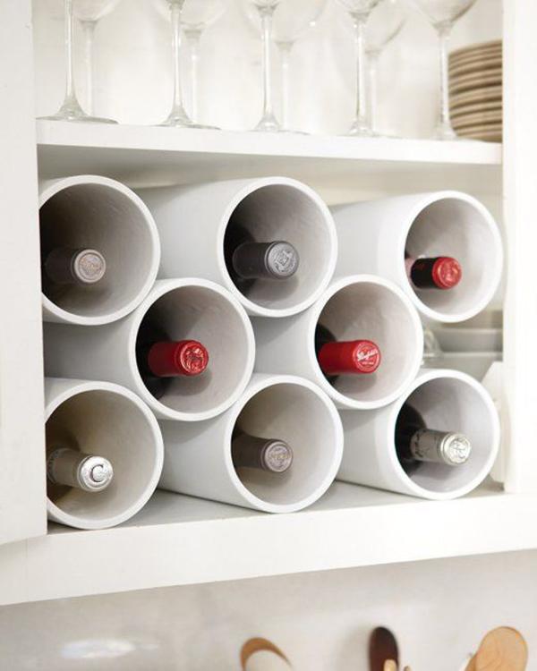 PVC modern wine rack