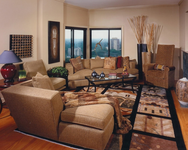 20 Pleasant Bamboo Themed Living Rooms Home Design Lover