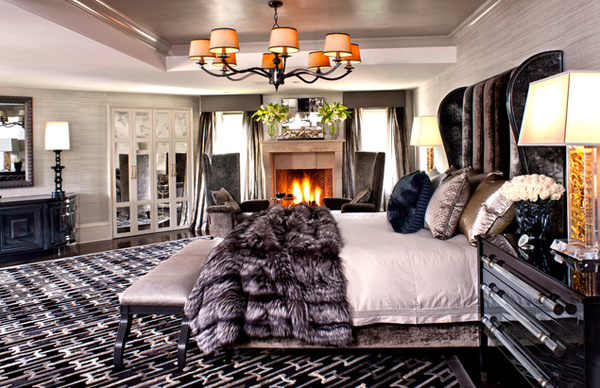bedroom fireplace design