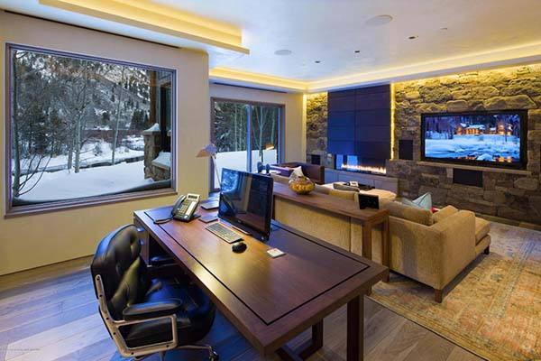 working office area