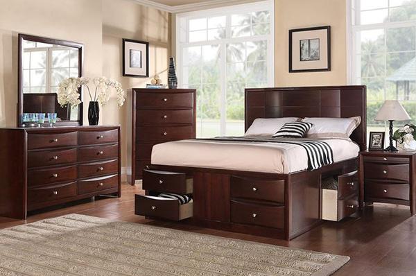 Art Deco Platform Bed Set