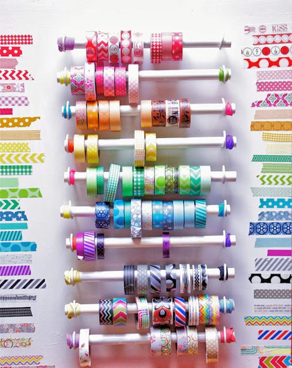 PVC Pipe Washi Tape Organizer