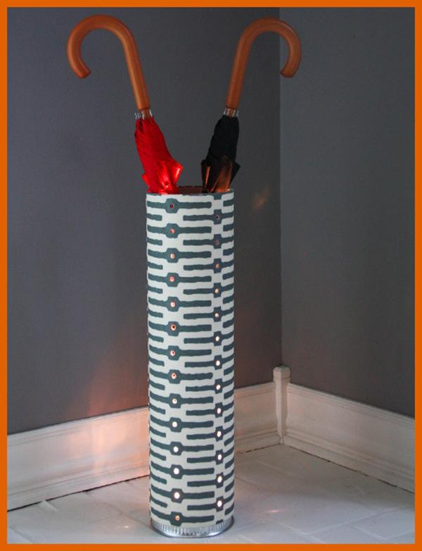 DIY PVC Pipe Lighted Umbrella Stand