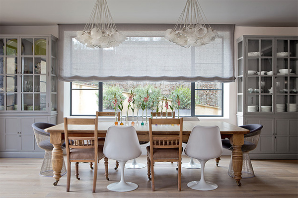 20 Dining Areas With Roman Shades Home Design Lover