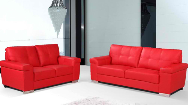 Sondrio Modern Red Leather Sofa Set. Email; Save Photo. Fancy Living Room