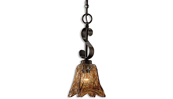 Rubbed Bronze Pendant
